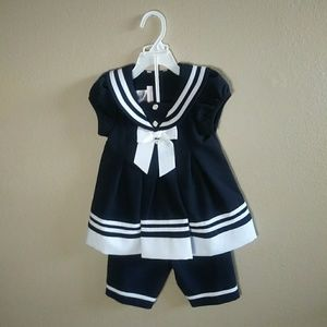 Bonnie Baby Navy & White 2pc set